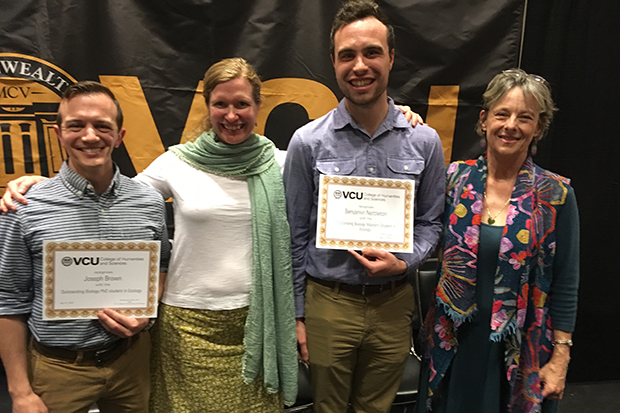 Joseph Brown, Julie Zinnert, Benjamin Nettleton, and Chair Bonnie Brown pictured.  Joseph and Benjamin were honorees at the awards ceremony.
