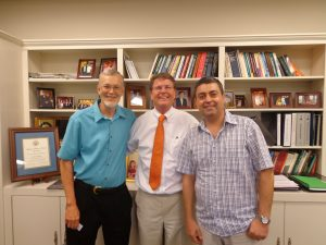 (Left to right) Drs. Peter Moon, David Sarrett and Ruben Garcia.