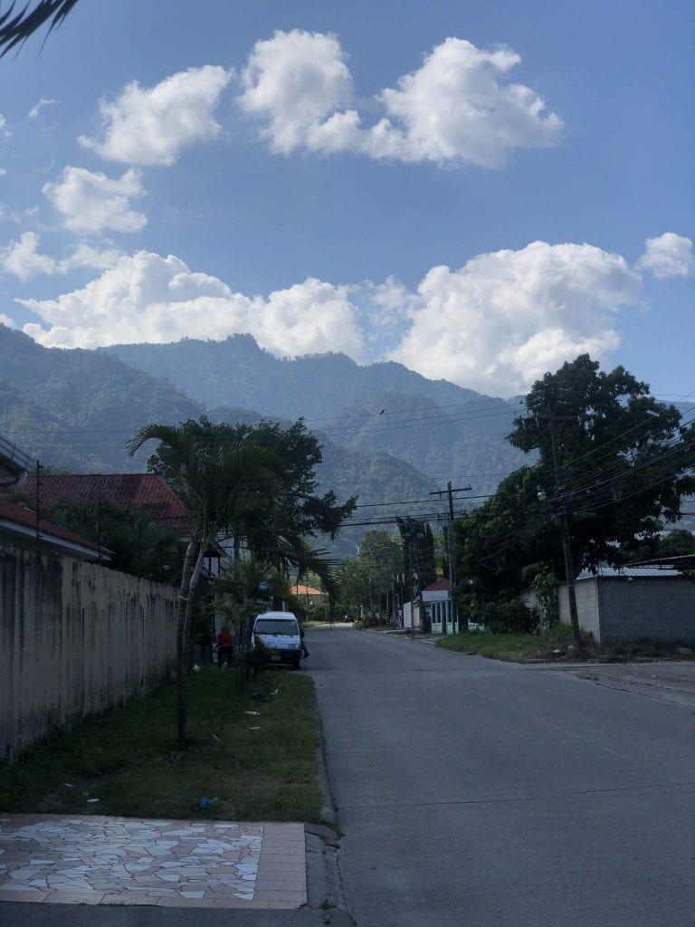 An empty street in Honduras
